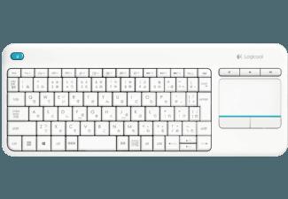 logitech k400 plus tastatur touch wireless qwertz in wei 223 f 252 r 20 monsterdealz de