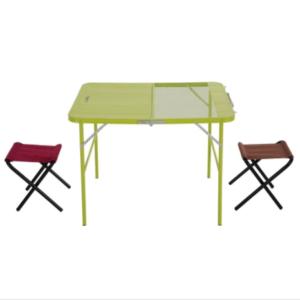 tomshoo camping klapptisch mit 2 hockern f r 17 10. Black Bedroom Furniture Sets. Home Design Ideas