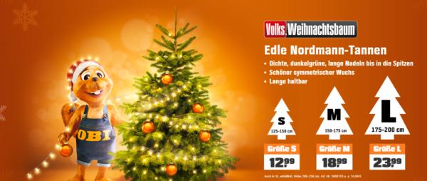 Gutschein Weihnachtsbaum.Super Edle Nordmann Tanne Versandkostenfrei Bei Obi 10 Gutschein