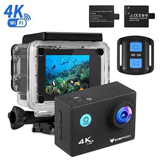 4k action cam von icefox mit 2 display 1080p wifi. Black Bedroom Furniture Sets. Home Design Ideas