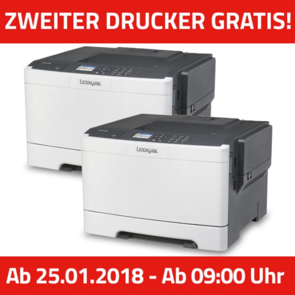 KNALLER* Lexmark CS417dn DIN A4 Farblaserdrucker (Duplex, Netzwerk ...