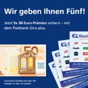 *KNALLER* Bis zu 250€ Prämie für das Postbank Giro plus Girokonto