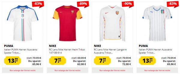 uk availability 7c432 00c0c KNALLER* SportSpar: Großer Trikot Sale mit bis zu 89% Rabatt ...
