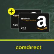 *NUR NOCH HEUTE* comdirect Girokonto eröffnen und bis zu 150€ Prämie + 50€ (2x25€) Amazon.de Gutscheine erhalten