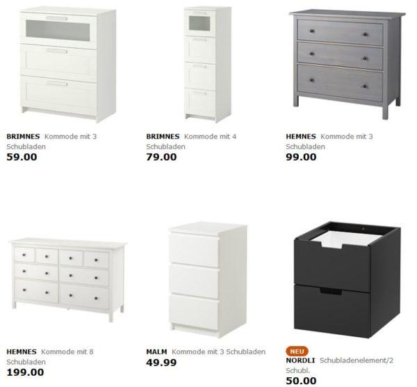 Hemnes kommode ikea schwarz  IKEA: Kommode kaufen und sparen - 5€ Aktionskarte je Schublade dazu ...