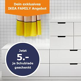 ikea kommode kaufen und sparen 5 aktionskarte je schublade dazu erhalten ikea family. Black Bedroom Furniture Sets. Home Design Ideas