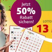 50% Rabatt bei Lottoland für Neukunden: z.B. 25€ 6 aus 49 Lotto für 12,50€