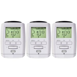 sparset xavax funk heizk rperthermostat elektronisch mit bluetooth im 3er set f r 22 95. Black Bedroom Furniture Sets. Home Design Ideas