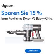 Dyson V6 Baby+Child für nur 169€ dank 15% Gutscheincode