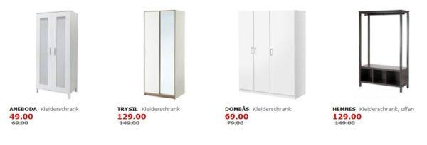 Ikea Viele Kleiderschranke Im Angebot Z B Aneboda Fur 49 Statt