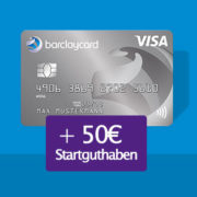 *KNALLER* 50€ Startguthaben für die gebührenfreie Barclaycard New Visa Kreditkarte