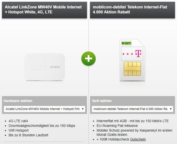 alcatel linkzone mw40v mobiler hotspot 4gb telekom lte. Black Bedroom Furniture Sets. Home Design Ideas