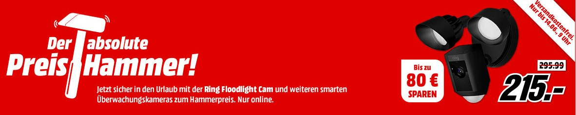 mediamarkt verschiedene berwachungskameras z b ring spotlight cam akku kabellose hd. Black Bedroom Furniture Sets. Home Design Ideas