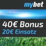 *WM* 20€ Wette bei mybet als Neukunde platzieren und 40€ Amazon.de-Gutschein erhalten!
