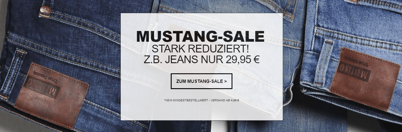 buy online b7b88 fa8fd Mustang Sale bei Jeans Direct mit Jeans für 29,95€, T-Shirts ...