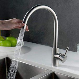Homelody Wasserhahn Küche mit Brause 360° schwenkbar für 33,60€