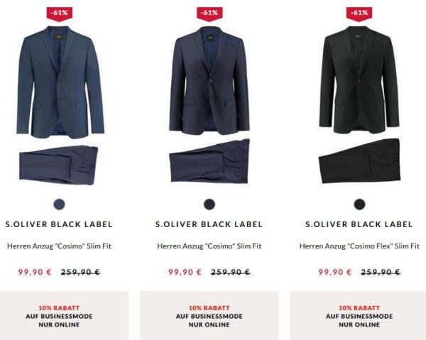 Herbst Schuhe bis zu 80% sparen Neuestes Design s.Oliver: Herren Anzug