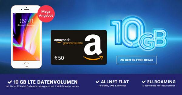 Top O2 Free M Mit 10gb Lte Für 1158monat Dank 50 Amazon