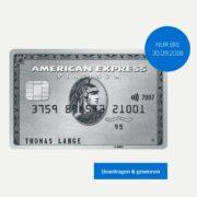 *KNALLER* American Express Platinum Card (50€/Monat) abschließen und 375€ (75000 Membership Reward Points) erhalten