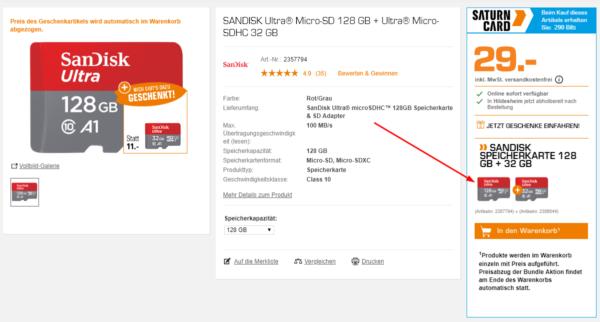 Saturn Micro Sd Karte.Sandisk Ultra Micro Sdxc Speicherkarte 128 Gb 32gb Speicherkarte