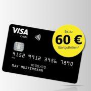 *TOP* Dauerhaft kostenlose Deutschland Kreditkarte mit bis zu 60€ Startguthaben als Prämie