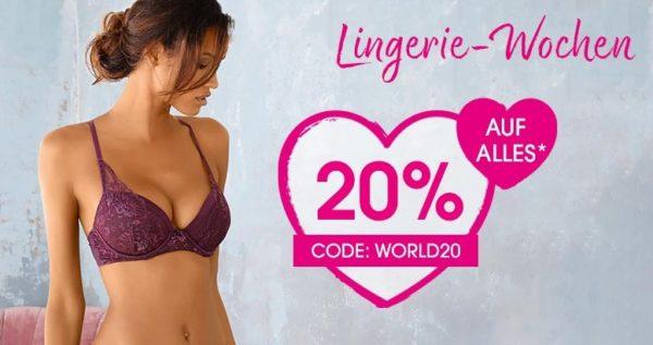 huge discount 349e5 a70d8 Lascana: 20% Rabatt auf das gesamte Sortiment