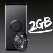 Samsung Galaxy S9 + Gear S3 Frontier mit D2 Allnet oder Telekom Allnet 1GB für 19,99€/Monat (eff. 103,35€ Ersparnis)