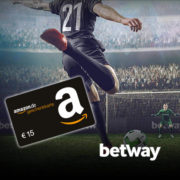 Betway: 10€ einzahlen, Willkommensbonus sichern + 15€ Amazon.de-Gutschein abstauben