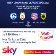 *ENDET HEUTE* Sky: 50% Rabatt auf alle Pakete: z.B. Sky Bundesliga für 19,99€/Monat - nur 12 Monate MVLZ