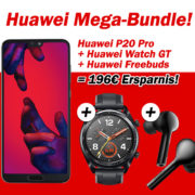 *EFFEKTIV 196€ ERSPARNIS* md Flat Allnet Plus (Telefon-Flat + 2 GB) inkl. Huawei P20 Pro + Huawei Watch GT + FreeBuds) für 26,99€/Monat