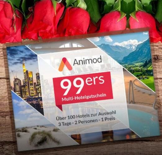 Valentinstag Animod Multi Hotelgutschein 3 Tage Fur 2 Personen In