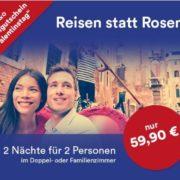 a&o Hotelgutschein (2 Nächte für 2 Erwachsene + 2 Kinder) - z.B. Venedig, Amsterdam, Berlin, Wien für 59,90€
