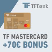 *KNALLER* Kostenlose TF MasterCard-Kreditkarte eröffnen und 70€ Bonus kassieren (Amazon.de-Gutschein)