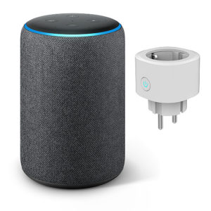 amazon echo plus zweite generation mit smarte steckdose