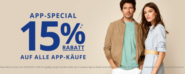 10bf5f00e11ed9 Im Rahmen der Glamour Shopping Week erhaltet ihr im Onlineshop von Peek    Cloppenburg   satte 15% Rabatt auf ALLES. 🙂