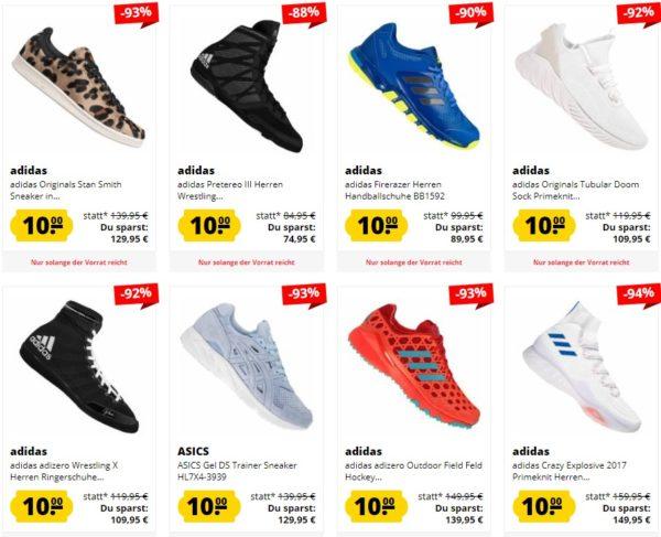 NUR 24 STUNDEN: Über 200 Schuhe für je 10€ – z.B. adidas