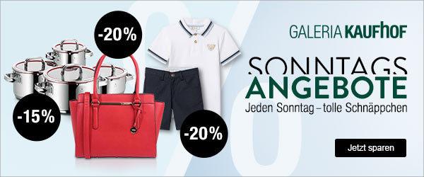 fba27f5c21f38 Galeria-Kaufhof: Sonntagsangebote – z.B. 20% Rabatt auf Damentaschen ...