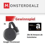 Google Chromecasts oder Amazon.de Gutscheine gewinnen + garantiert kostenloses Jahresabo!