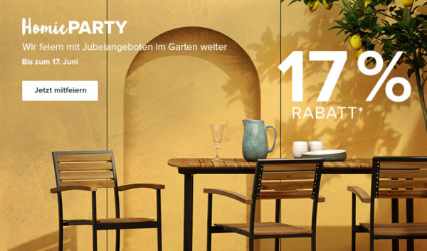 home24 - Gartenmöbel - Rabatt - Homieparty