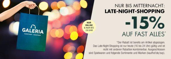 bd80c8f6493df Galeria-Kaufhof  15% Rabatt auf fast alles im Online-Shop (nur bis  Mitternacht!)