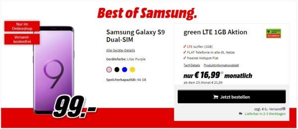 MediaMarkt Tarifewelt - Best of Samsung - MD green LTE 1 GB - Samsung Galaxy S9