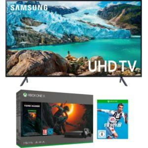 Samsung UE55RU7179 LED-Fernseher (138 cm/55 Zoll, 4K Ultra HD, Smart-TV, inkl. Xbox One X 1TB + Tombraider und FIFA 19)