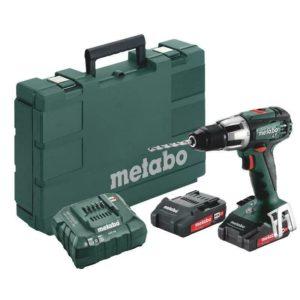 Metabo SB 18 LT Compact Akkuschlagbohrer inkl. 2x 2,0 Ah Akku, Koffer und Ladegerät