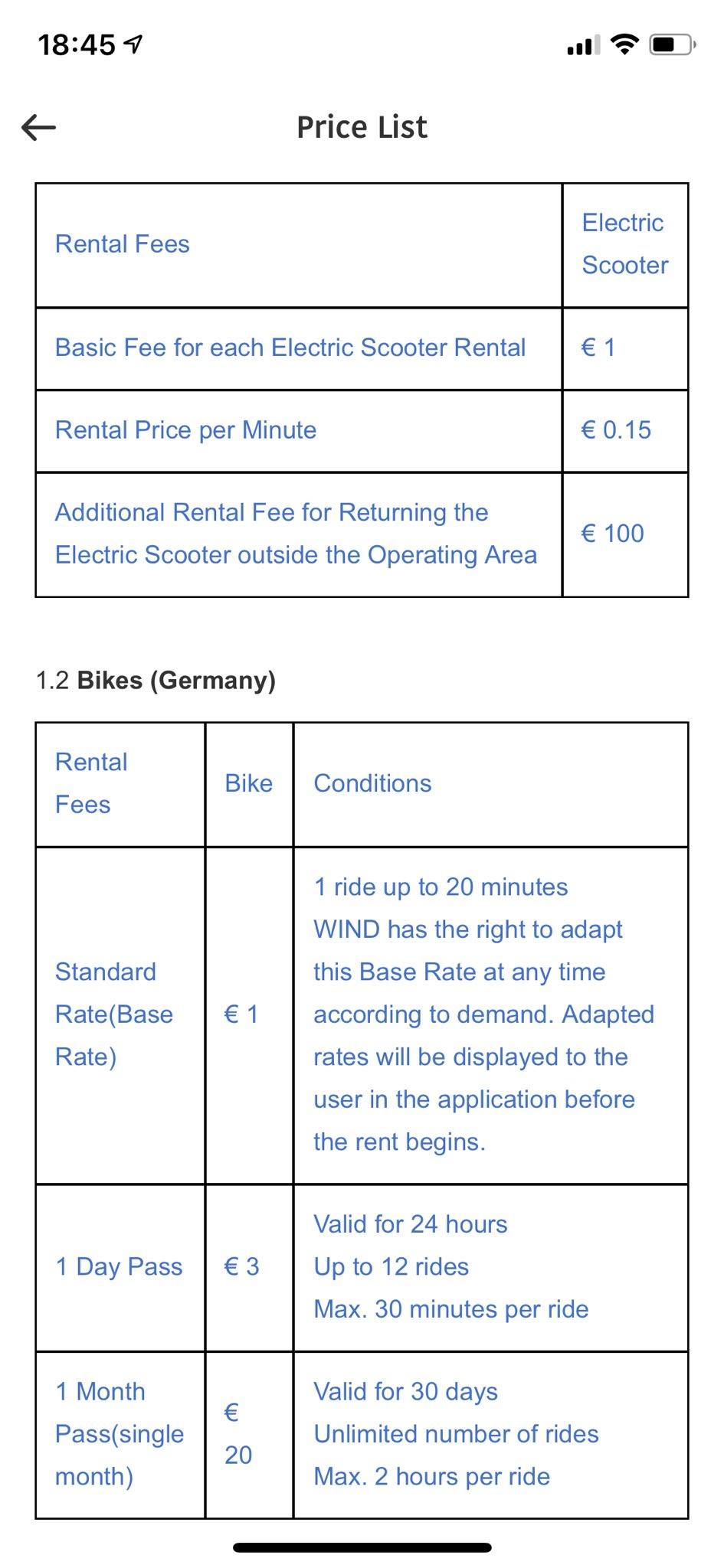 Byke - WIND - Preisliste - Deutschland