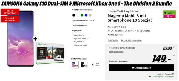 mediamarkt tarifwelt samsung galaxy s10 microsoft xbox one s magenta mobil s