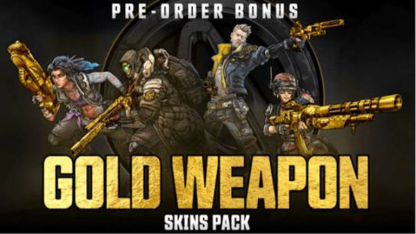 borderlands 3 pre order bonus gold weapn skin pack