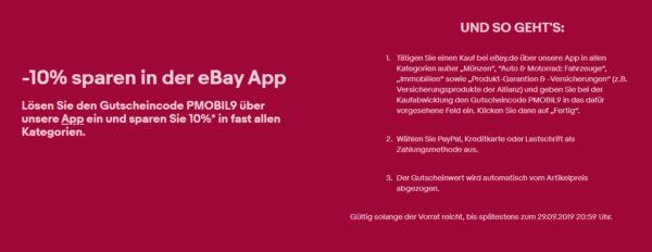 ebay app rabatt 10 prozent