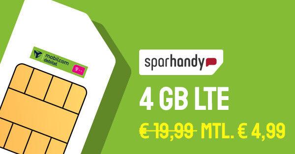 sparhandy mobilcom debitel internet flatrate 4000 banner