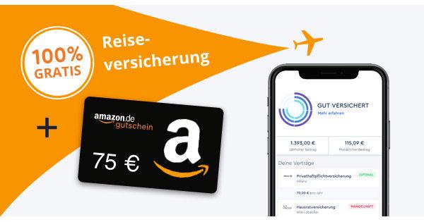 clark reiseversicherung 75 euro amazon.de gutschein