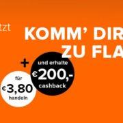 *KNALLER* Kostenloses flatex Depot inkl. 200€ Cashback (nur 20 Trades) - rechnerisch bis zu 124€ Gewinn möglich